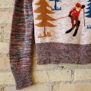Arpeja Sweaters - Arpeja Vintage Cropped Ski Sweater